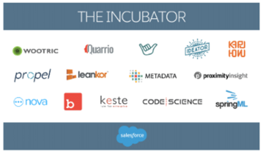 List of Salesforce Incubators