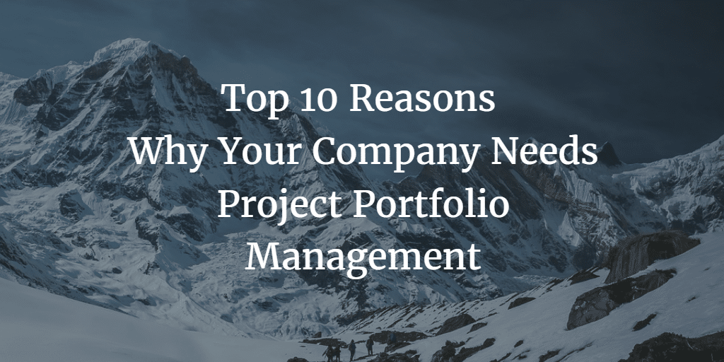 Top 10 Reasons Why Your Company Needs Project Portfolio Management