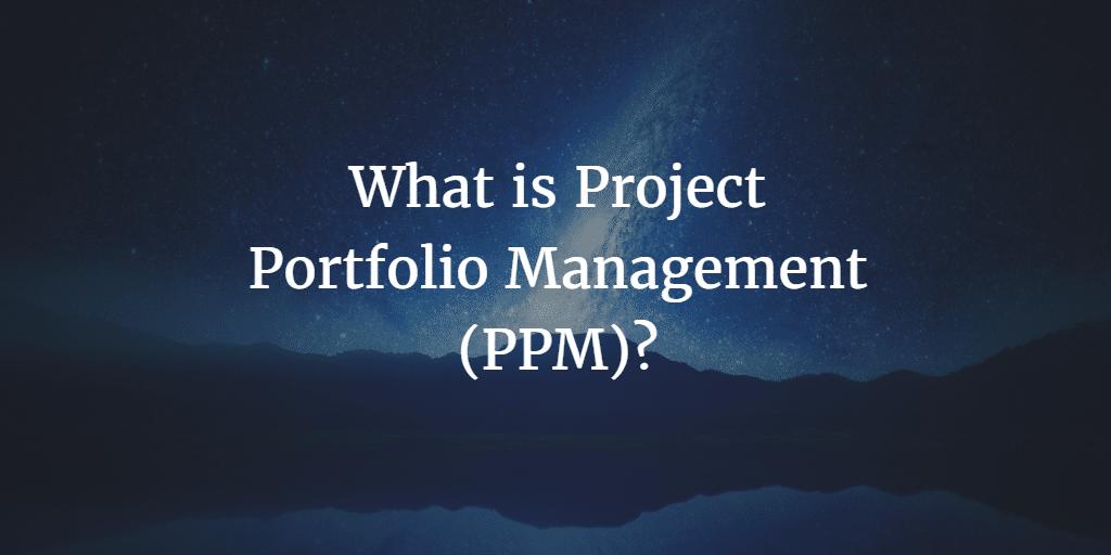 What is Project Portfolio Management (PPM)