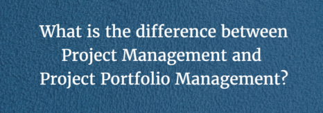 What is the difference between project management and project portfolio management?