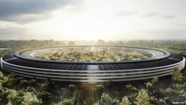 Apple Headquarters Solar Panels